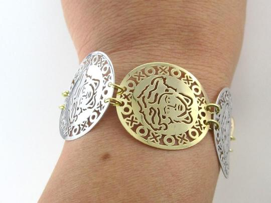 Other 14KT 2 TONE GOLD BRACELET 17.2 GRAMS MEDUSA GREEK GODDESS FINE JEWELRY