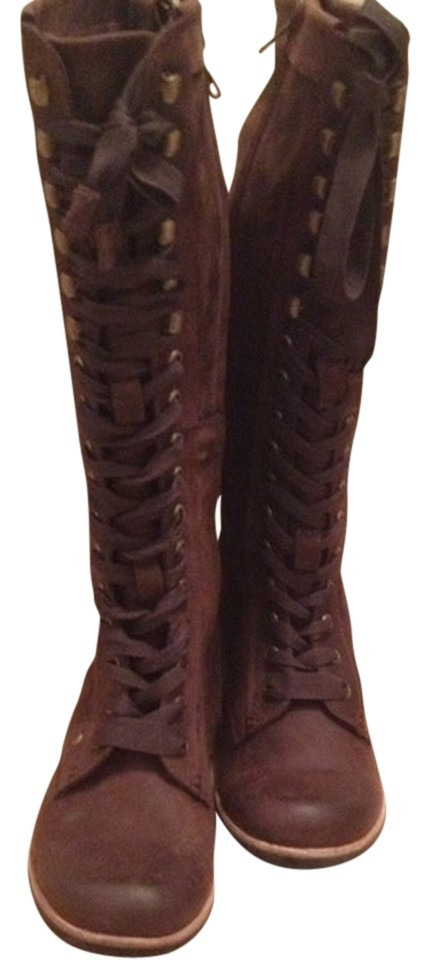 brown boots size 6 5 68 boots booties tradesy
