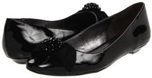 Etienne Aigner Patent Suede Bow Wedding black Flats