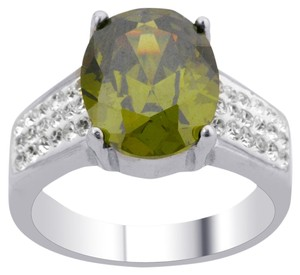Unknown Peridot and Austrian Crystal Ring - item med img
