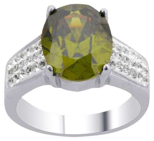 Unknown Peridot and Austrian Crystal Ring