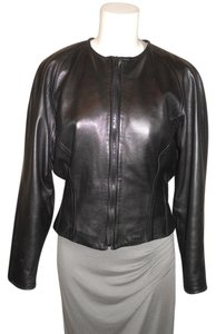 Vakko Leather black Leather Jacket
