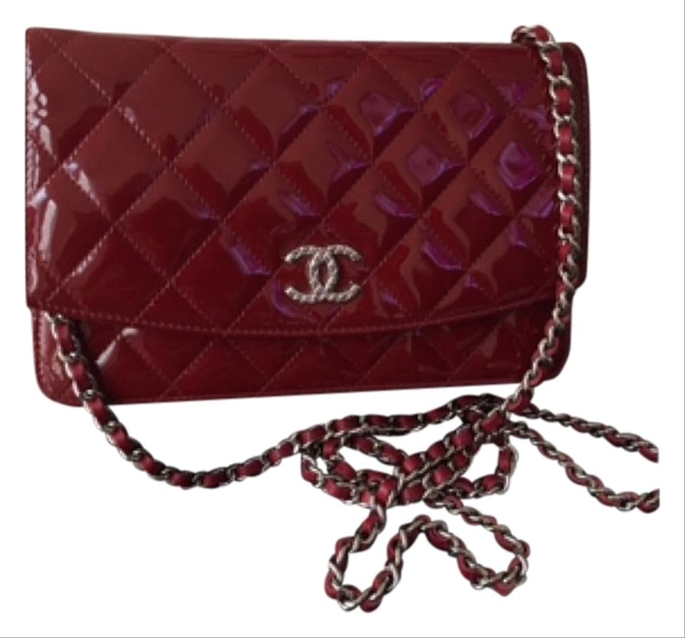 befcbbacca6 Chanel Wallet on Chain Classic Quited Leather Red Patent Cross Body ...
