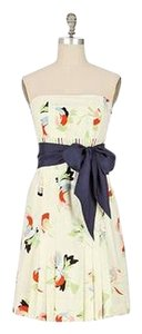 Anthropologie short dress floral Maeve Bustier on Tradesy