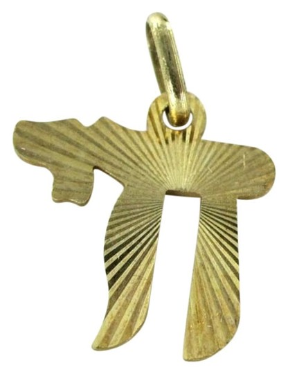 Other 14kt SOLID Yellow Gold Chai Pendant
