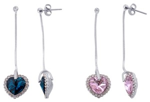 Unknown Heart Austrian Crystal Earrings