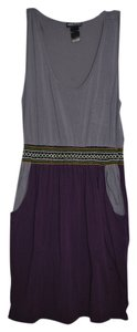 Wet Seal short dress Purple/Grey Purple Pockets Aztec on Tradesy