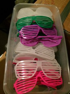 Glow-in-the-dark Pink Green Purple Shutter Shades Wedding Favors