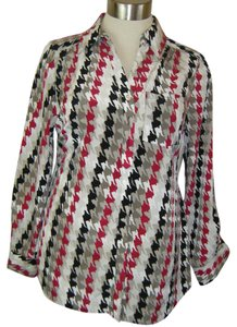 Style & Co Top MULTI BERRY IVORY GRAY & WHITE
