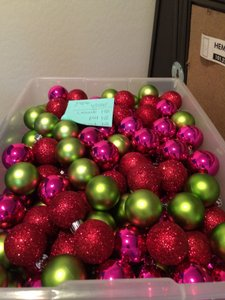Target Red Green Pink 200+ Mini Christmas Bulbs