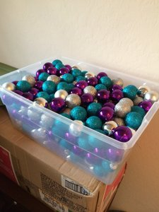 Target Teal Purple Silver 200+ Mini Christmas Bulbs