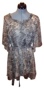 Costa Blanca short dress Multi Snakeprint Widesleeve Coverup on Tradesy