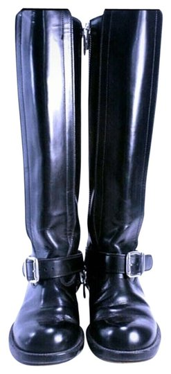 Chloé Lagerfeld Karl Lagerfeld Leather Riding Black Boots
