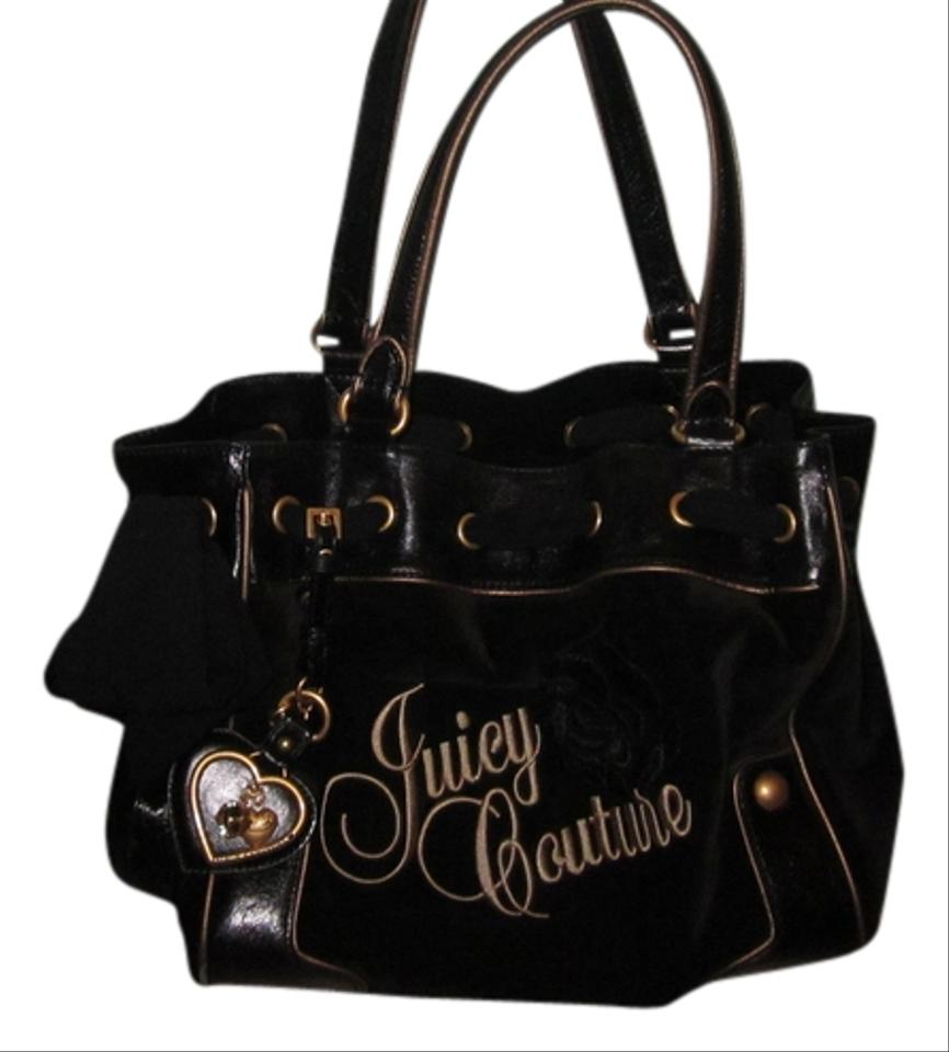 Juicy Couture Black Leather Shoulder Bag 31