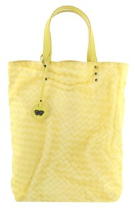 Bottega Veneta Intrecciolusion Tote in Yellow