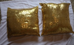 Gold Sequin Lounge Pillows