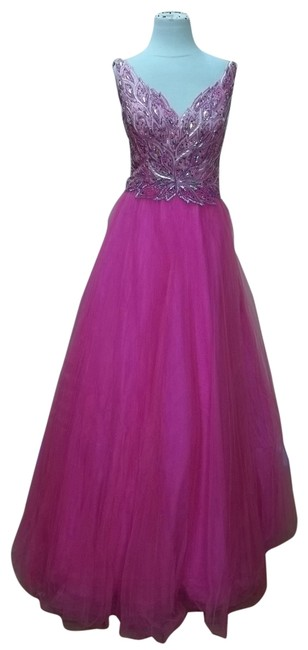 Preload https://item4.tradesy.com/images/impression-bridal-fuchsia-35633-long-formal-dress-size-6-s-691993-0-1.jpg?width=400&height=650