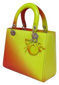 Dior Lady Purse Tote in yellow orange gradient as in picture