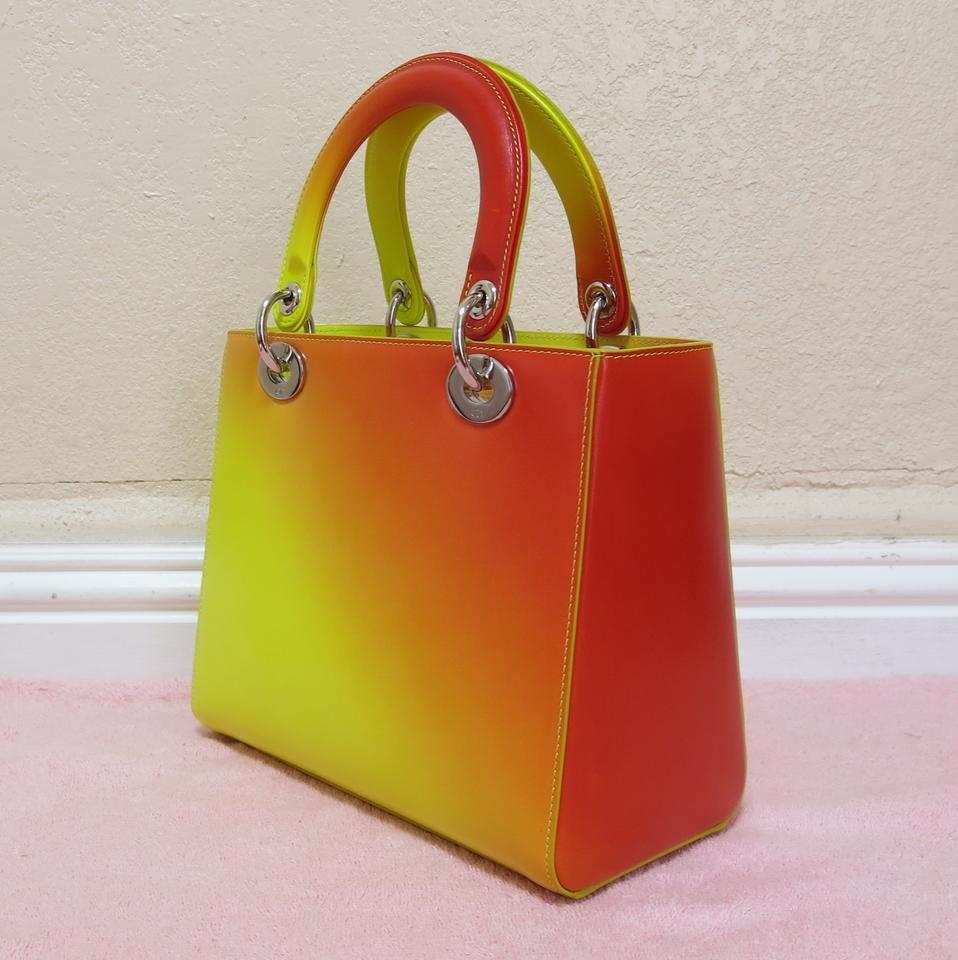 Cruise Yellow Orange Tote Calfskin In Dior As Picture 2014 Lady Dior Gradient XwBIwEq