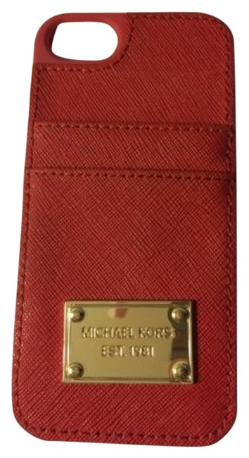 Item - Red Saffiano Leather Iphone 5 5s Case Credit Card Id Holder Maroon Tech Accessory