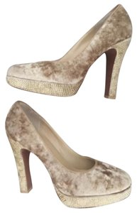 Michael Kors Beige Tan Platforms