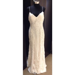 Maggie Sottero Ivory Lace Mattea Formal Wedding Dress Size 10 (M)