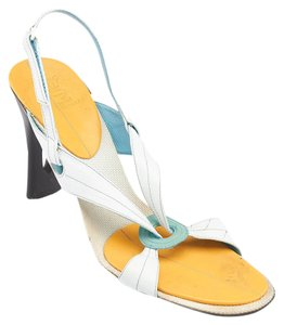 Cole Haan Leather Heels White Sandals