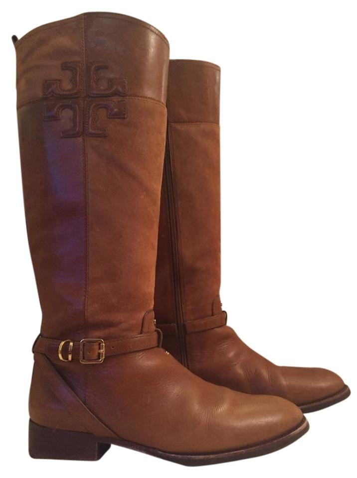 Tory Burch Bark with (Light Tan) Lizzie Riding Comes with Bark Box Boots/Booties 324e58