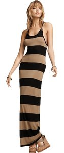 Black & Beige Maxi Dress by Joie Maxi Wide Stripe