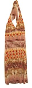 Brown, Tan and Red Maxi Dress by Studio 1940