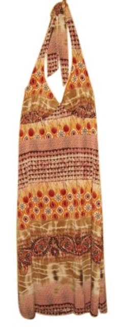 Preload https://img-static.tradesy.com/item/6921/studio-1940-brown-tan-and-red-vintage-halter-knee-length-casual-maxi-dress-size-4-s-0-0-650-650.jpg