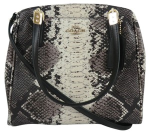 Coach Minetta Small Satchel Embossed Leather F35876 Cross Body Bag