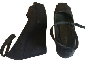 H&M Blac Wedges