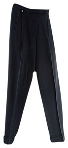 Sonia Rykiel Woven Crepe Cuffed Straight Pants Black