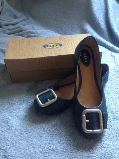 Fossil Electric Blue Flats