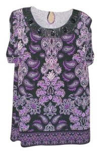 Apt. 9 Very Nice That Can Be Worn To Work Or For The Evening Top PURPLE AND BLACK