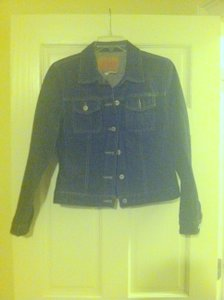 Guess Black Womens Jean Jacket