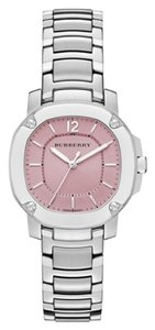 Burberry BBY1704 Burberry The Britain Women Watch Pink Dial Silver Tone 34mm