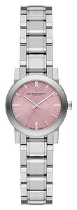 Burberry BU9231 Burberry The City Women Watch 27 mm Silver Tone Stainless Steel Pink Dial