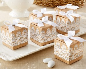 Kate Aspen Rustic Lace 96 & Kraft Box Wedding Favors