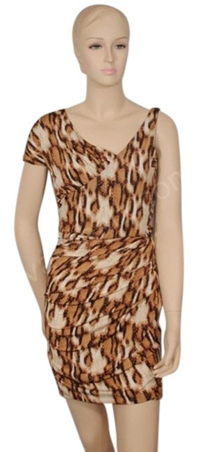 Preload https://item1.tradesy.com/images/just-cavalli-brown-leopard-body-above-knee-night-out-dress-size-10-m-692260-0-1.jpg?width=400&height=650
