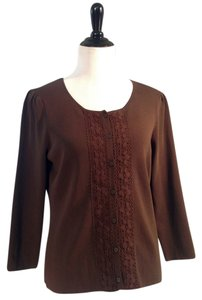 Ann Taylor LOFT Long Sleeve Embroidered Button Front Light Weight Closeout Sale Closeout Sale Sweater