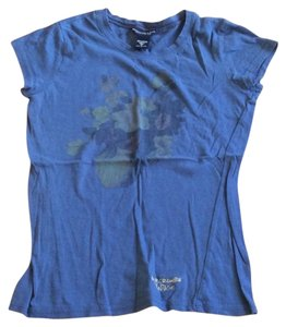 Abercrombie & Fitch Floral T Shirt Blue