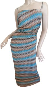 Maxi Dress by Missoni Orange Label Knit Long Spaghetti Strap