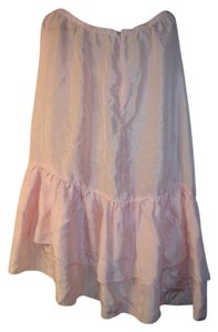 Lux Silk Flowy Skirt Pale pink