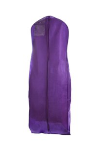 The Last Minute Bride Purple Breathable Zippered Garment Bag