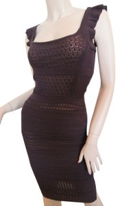 Catherine Malandrino short dress Dark Purple Knit Knit Lace Lace on Tradesy