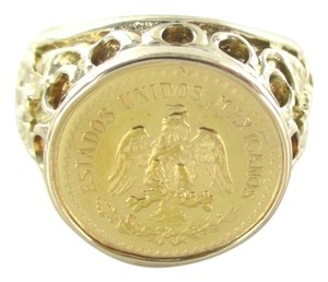 LIBERTY INDIAN HEAD 22K GOLD COIN RING 1929 14KT YELLOW GOLD 16.1DWT HEAVY SZ 9