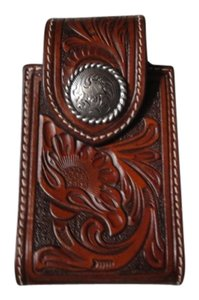 Nite Ize Innovation Nite Ize Innovation Western Tooled Look Leather Cell Phone Case Holder with Belt Clip