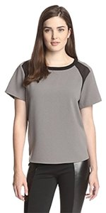 W118 by Walter Baker Layering T Shirt Grey/Black